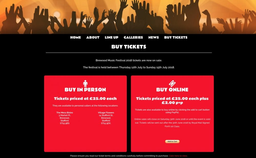 New batch of tickets now available for Brewood Music Festival 2018